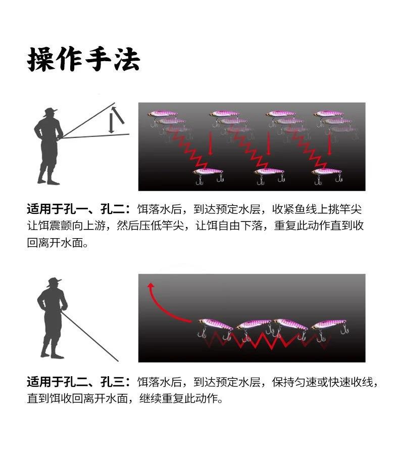 路亚金属vib操作手法 金属vib路亚饵使用技巧